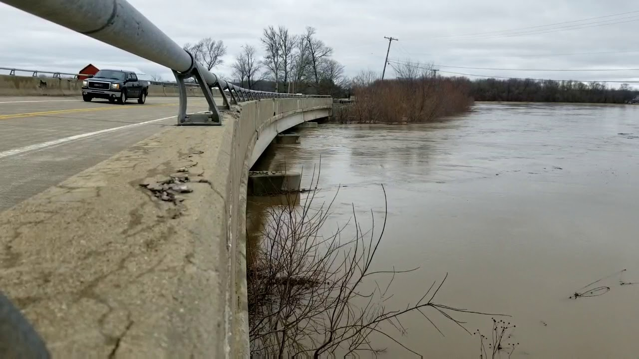 Flint River rises in flooding rural Saginaw County