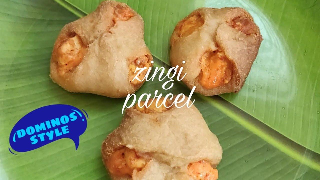 zingi parcel recipe//dominos style zingiparcel//home made yummy