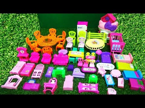 MINI BARBIE DOLL FURNITURE TOYS COLLECTION FOR KIDS