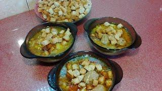 Видеоблог Кашевар: Гороховый суп с гренками и фрикадельками - домашний рецепт