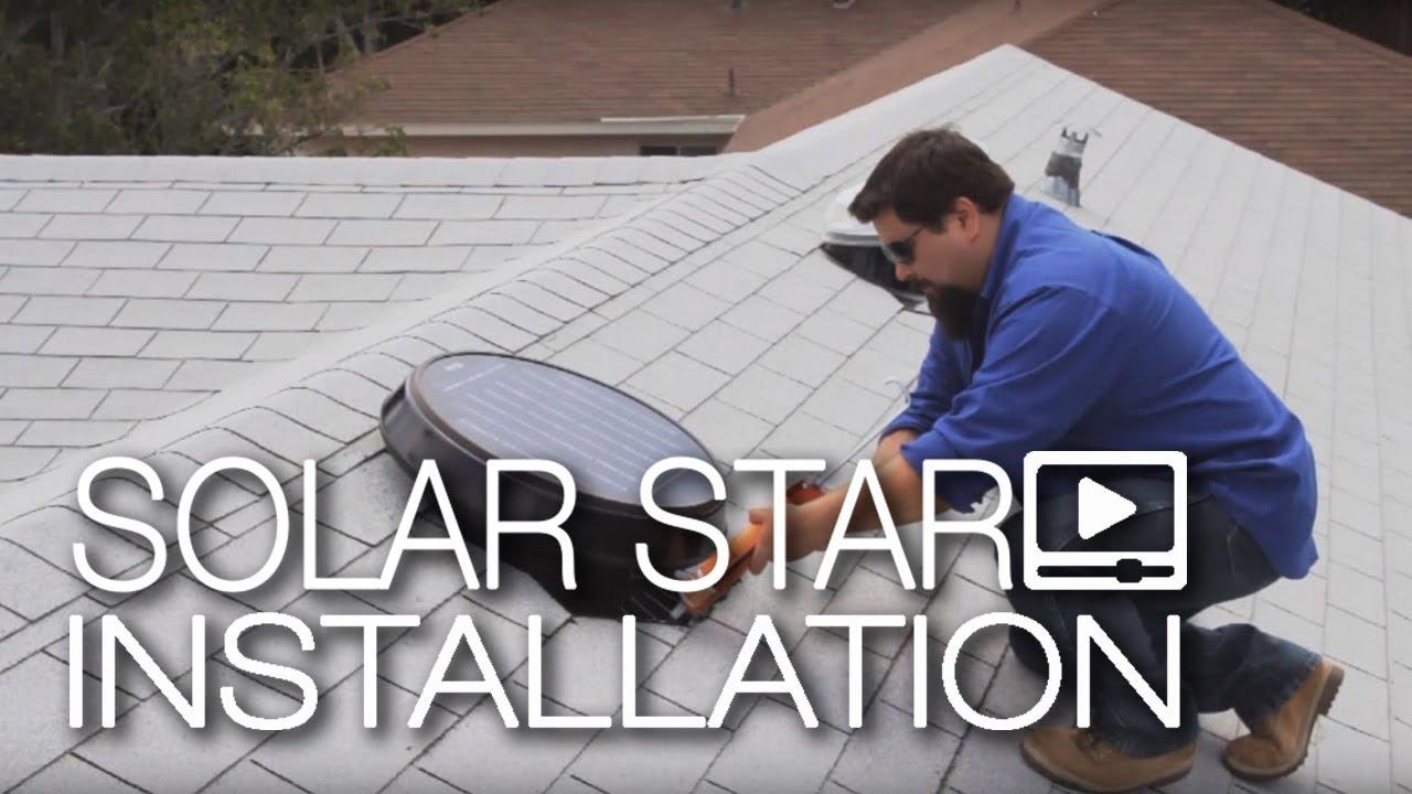 hight resolution of solar star installation