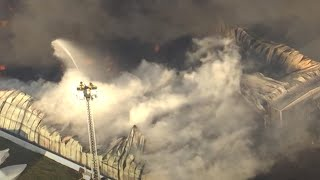 Dozens of boats destroyed in US marina fire