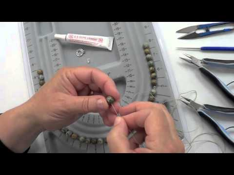 Stringing a Necklace on Thread