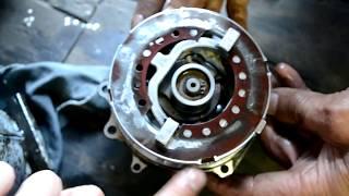 Компрессор кондиционера Lancer 9, замена подшипника шкива и электромагнитной муфты.