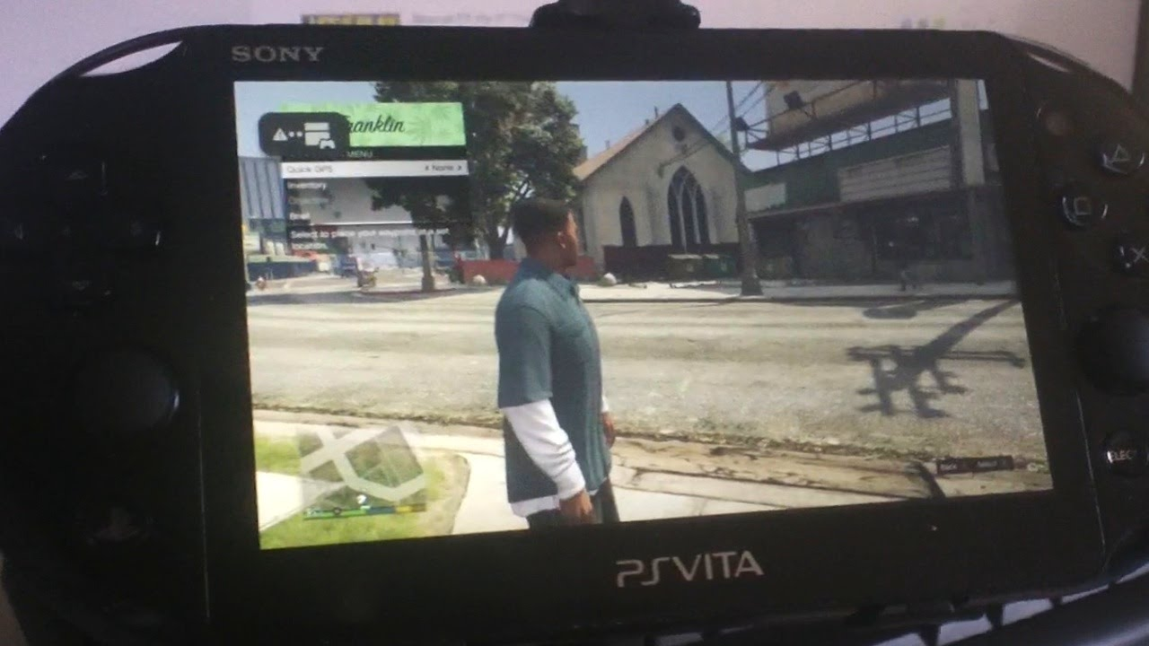 Gta V Ps Vita Remote Play Gameplay First Person Youtube