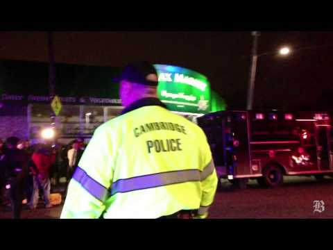 Police officers on the scene in Watertown