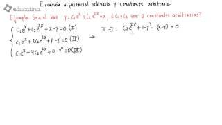Ecuación diferencial ordinaria y Constante arbitraria