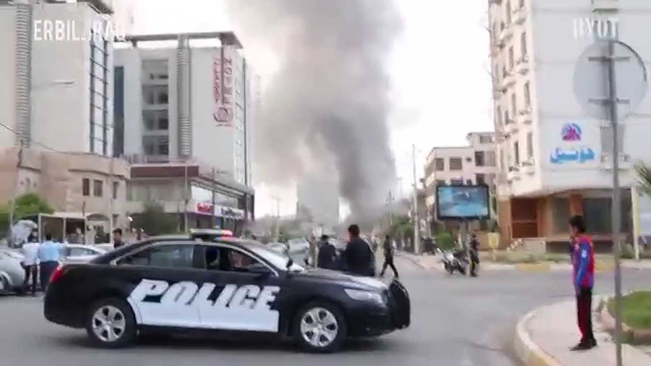 car bomb explosion caught on tape in erbil, iraq - youtube