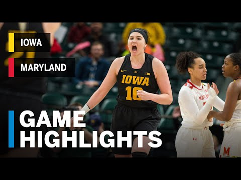 B1G Women's Tournament Highlights: Gustafson's 45 Leads Iowa to Title Over Maryland | March 10, 2019