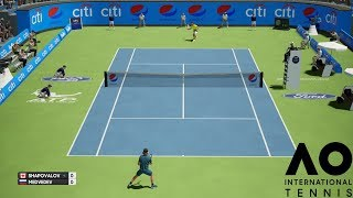 Denis Shapovalov vs Daniil Medvedev - AO International Tennis - PS4 Gameplay