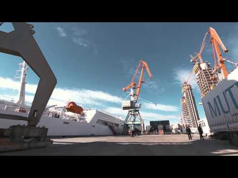 Ro-Ro operations at Port of Baku || Bakı Limanının Ro-Ro Ter