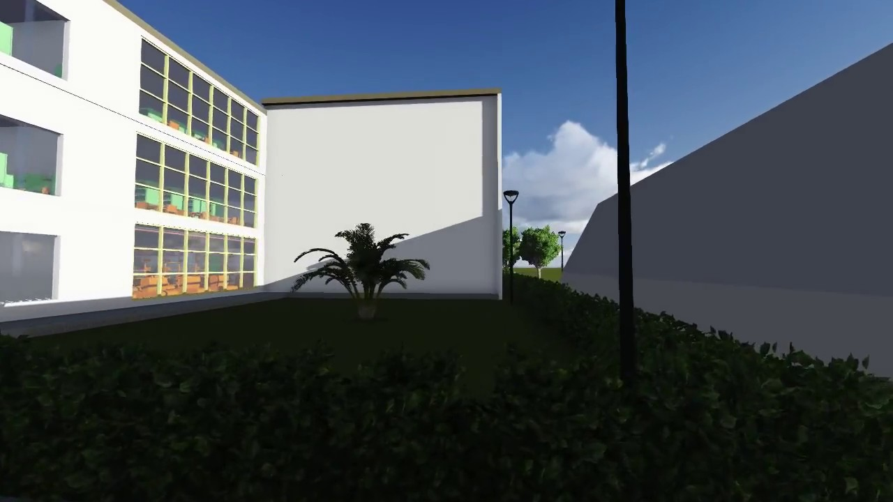 3d animation walk-through: Library project by lumion+revit