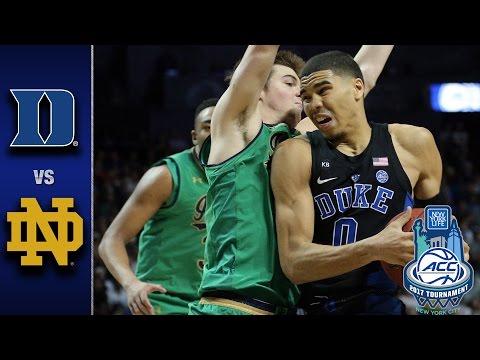 Duke vs. Notre Dame 2017 ACC Basketball Championship Game Highlights