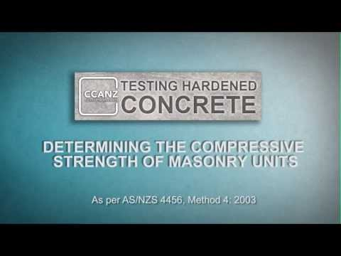 Testing Hardened Concrete - Determining the Compressive Strength of Masonry Units