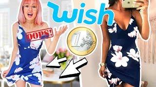 WISH 1€ Klamotten 😱 Schrott oder mega? | ViktoriaSarina