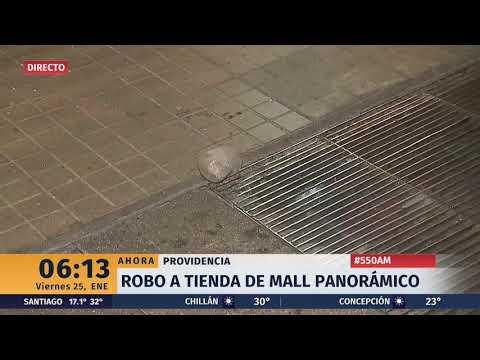 A Piedrazos Delincuentes Roban Cerca De 200 Lentes De óptica De Mall En Providencia