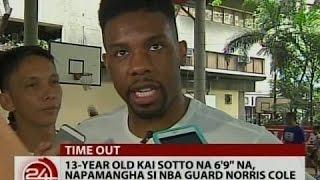 """24 Oras: 13 year old Kai Sotto na 6'9"""" na, napamangha si Norris Cole"""