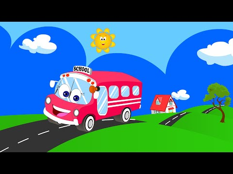 roda pada lagu bas | Wheels on the Bus Song for Baby and Kids | Nursery Rhymes for Children