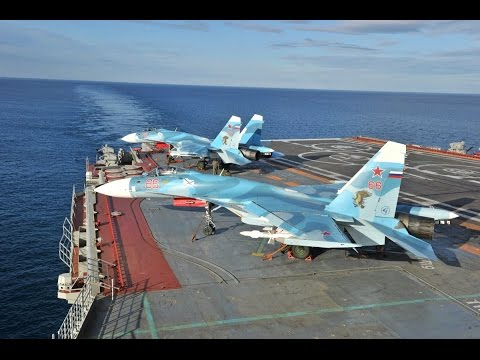 Sukhoi's Aircraft Carrier Display Operations | Sukhoi Su-33 Flanker-D Extreme Landing Attempt