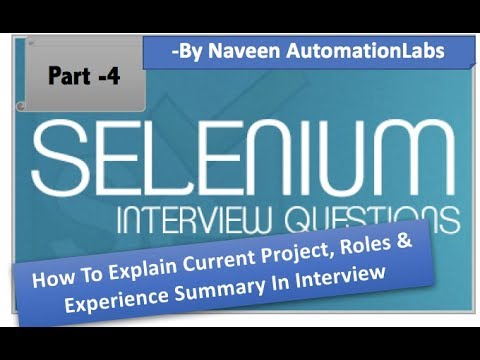 How To Explain Project, Roles & Experience Summary In Interview