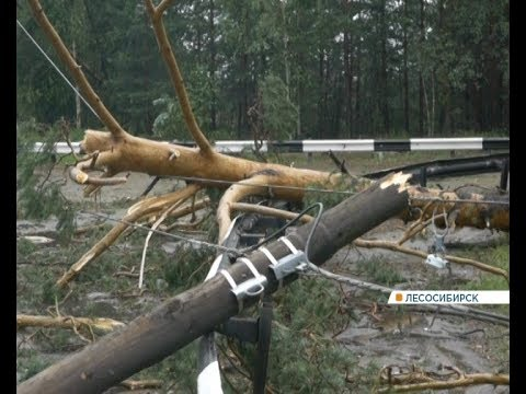 Показываем, как в Лесосибирске устраняют последствия урагана