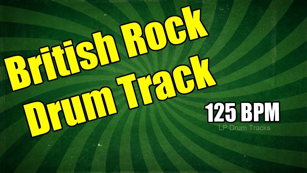 British Rock Drum Track - 125 Bpm Drum Track - Popular British Rock Drum  Track