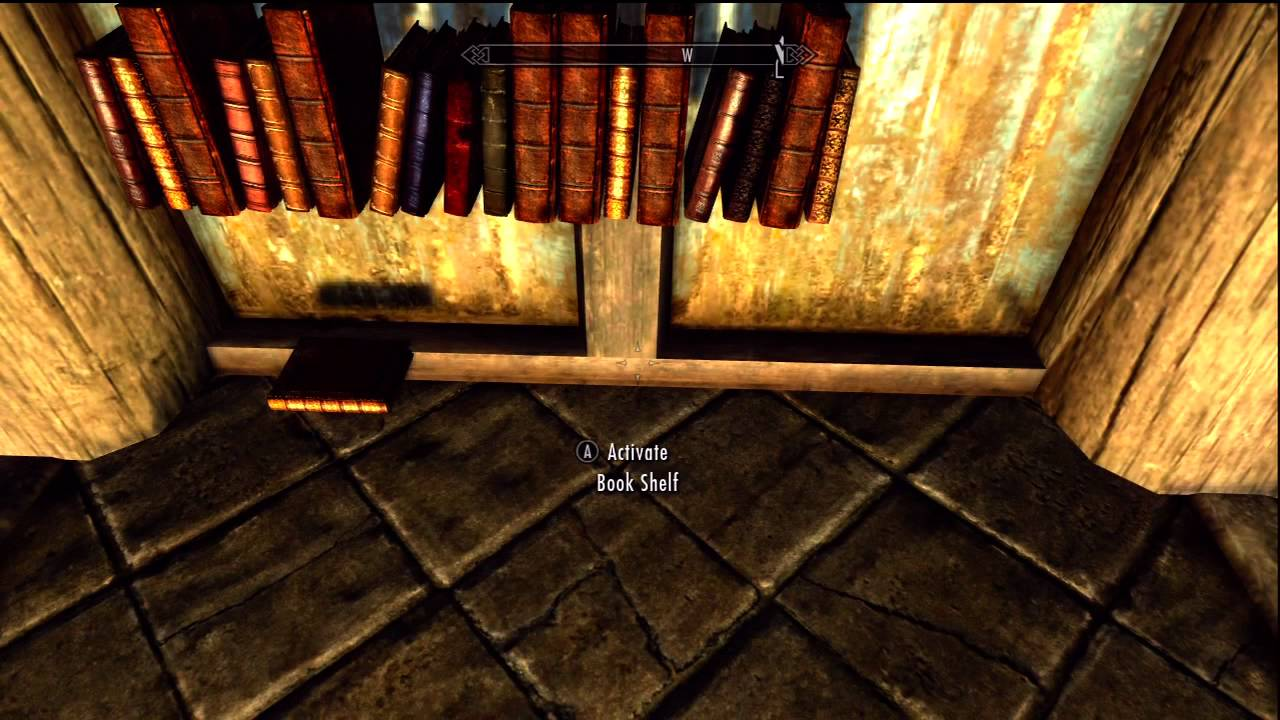 Skyrim Invisible Bookshelf