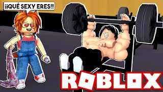 I GET VERY STRONG FOR MY GIRLFRIEND in ROBLOX 😍😂