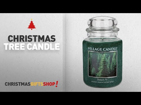 Most Popular Christmas Tree Candle: Village Candle Balsam Fir 26 Oz Glass Jar Scented Candle, Large