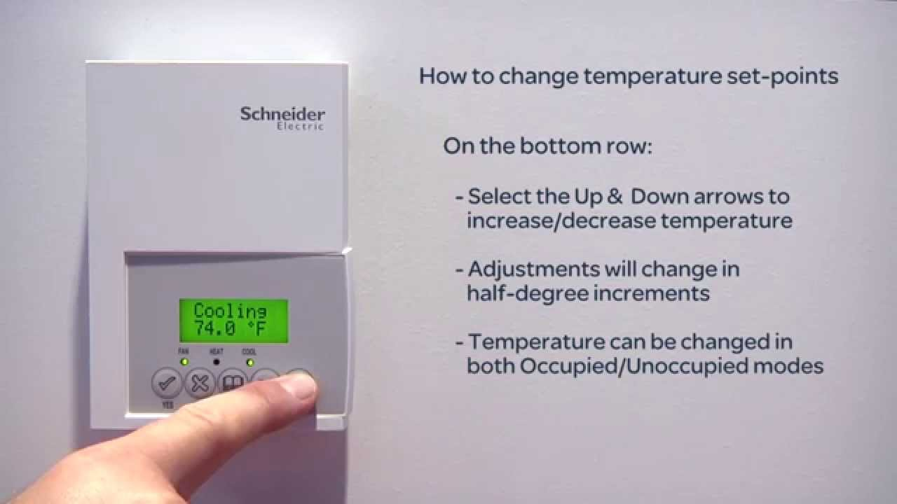 using a schneider electric thermostat youtube rh youtube com Schneider Electric Thermostat Manual Commercial schneider electric thermostat instructions