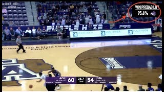 Watch Stephen F. Austin flip win probability with remarkable comeback