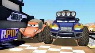 Monster Grit VS Sandy & Francesco Bernoulli Disney CARS Racing Game Play
