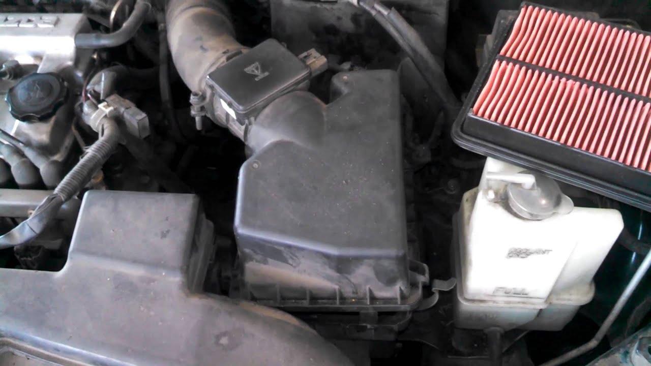 mazda protege fuel filter location