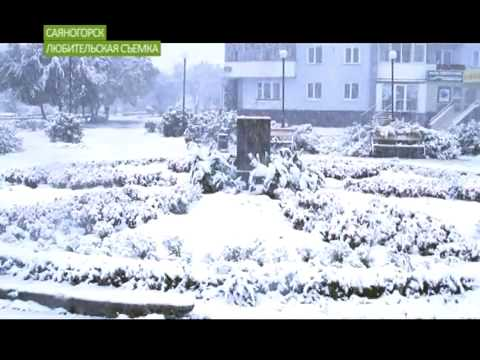 В Хакасии лег снег