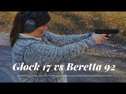 Glock 17 Vs Beretta 92!  Full-size 9mm Review.
