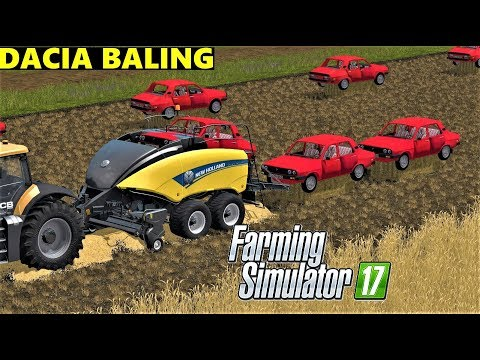 Farming Simulator 17 : DACIA BALING IN GOLDCREST VALLEY
