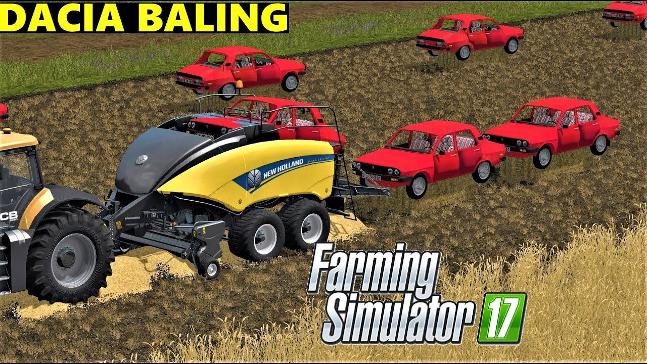 farming simulator 17 dacia baling in goldcrest valley youtube. Black Bedroom Furniture Sets. Home Design Ideas
