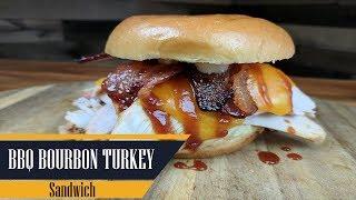 Bourbon BBQ Turkey Sandwich With Jalapeno Candied Bacon