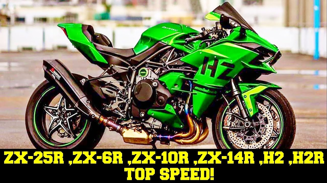 👑 Kawasaki ZX-25R ,ZX 6R ,ZX 10R ,ZX 14R ,H2 ,H2R - Максимальная Скорость 2021 🔥!