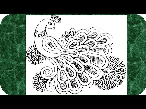 how-to-draw-peacock-with-beautiful-feather-design-|-pencil-art