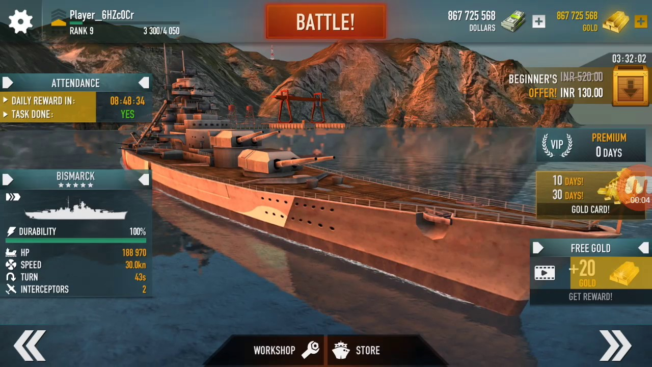 How To Download Battle Of Warships Mod Apk All Unlocked Youtube