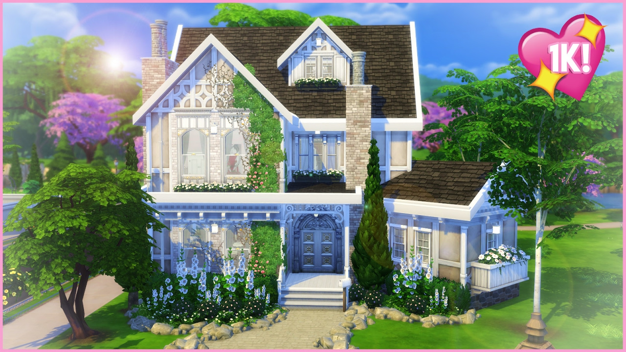 Sims 4 house build victorian dream 1k subs ty youtube for Dream house builder