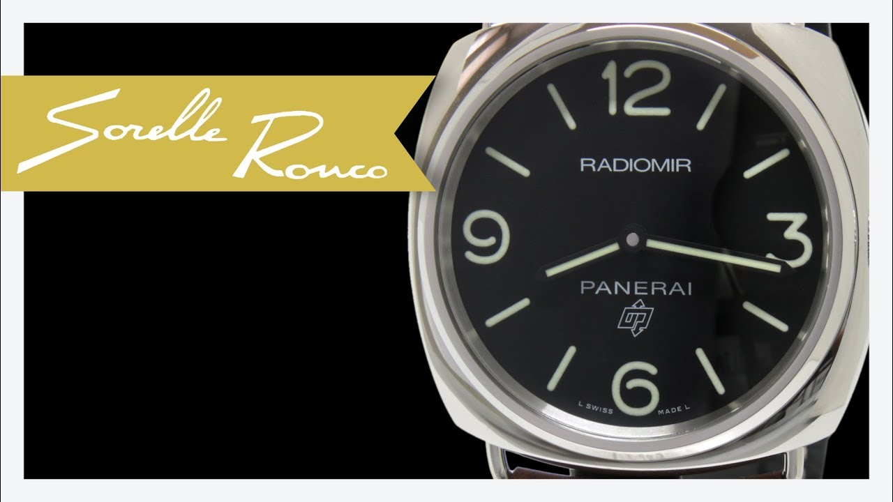 Panerai Radiomir Base 3 Days Pelle Quadrante Nero Pam00753 Youtube