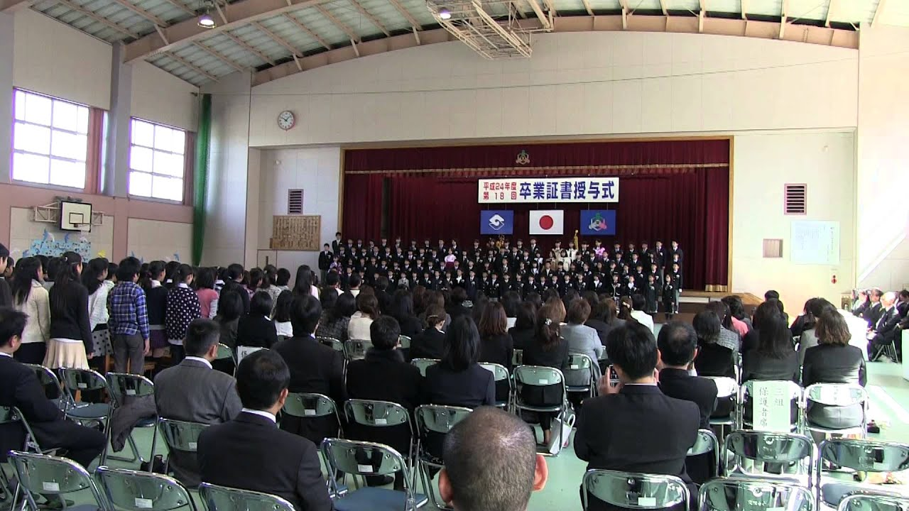japan graduation ceremony part three fifth graders