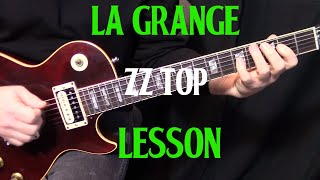 "how to play ""La Grange"" by ZZ Top - guitar lesson rythym"