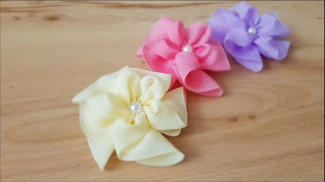 윈드밀 헤어핀 -귀엽고 사랑스러운 베이비 헤어핀만들기 / Ribbon DIY / Easy Ribbon Work /