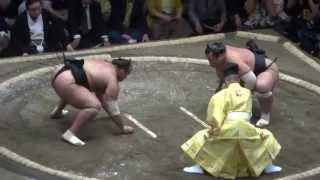 20140914 大相撲秋場所初日 豊響vs大砂嵐 大砂嵐いいとこなし.