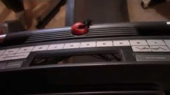 Treadmill console buttons not working.