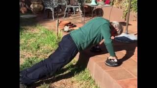 Stuart Whitman push up challenge at 89 years old