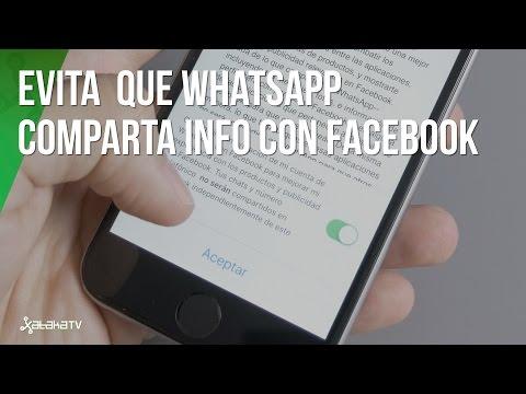 Cómo evitar que Whatsapp comparta datos con Facebook